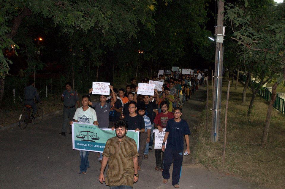 The march - courtesy Sauvik Samanta