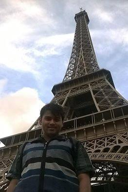 At Eiffel Tower, Paris
