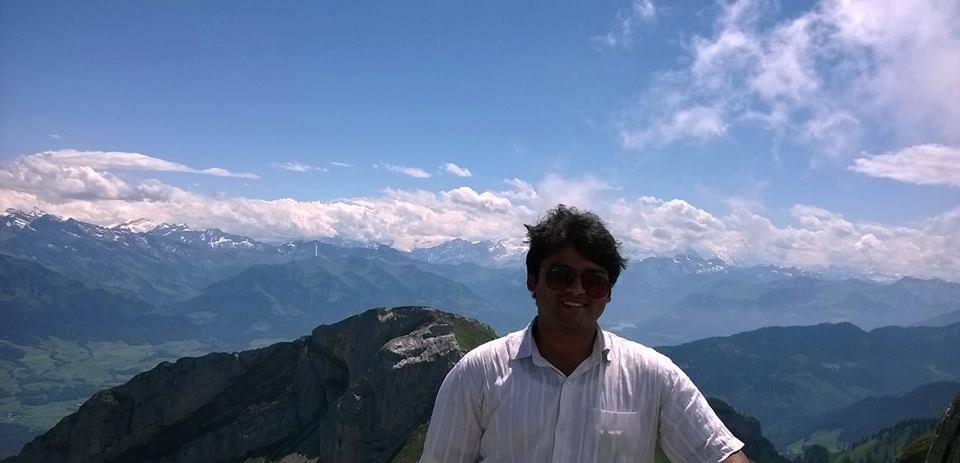 On the top of Mt. Pilatus, Switzerland