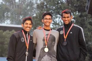 From left तो right, Vijay Kumar Meena (IITD), Dileep Pudi (IITD), and Deepak Jorwal.