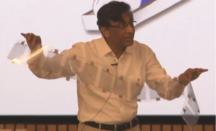 Flexible solar panel revealed by Prof. Y. N. Mohapatra