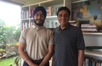 After the interview with Ronnie Screwvala in his office